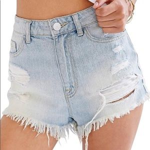 Urban Outfitters Distressed High Waisted Shorts